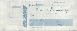 Francs FRANCE régionalisme et divers PARIS 1904 DOC.Chèque SUP