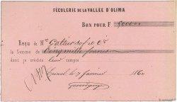 5000 Francs FRANCE régionalisme et divers ÉPINAL 1860 DOC.Reçu TTB