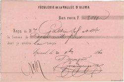 2000 Francs FRANCE régionalisme et divers ÉPINAL 1860 DOC.Reçu TTB