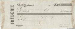 Francs FRANCE régionalisme et divers Neuilly-Sur-Seine 1860 DOC.Chèque TTB