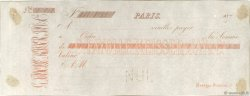 Francs FRANCE régionalisme et divers PARIS 1870 DOC.Chèque SUP