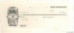 Francs FRANCE régionalisme et divers (PARIS) 1850 DOC.Chèque TTB