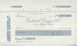 Francs FRANCE régionalisme et divers PARIS 1913 DOC.Chèque SUP
