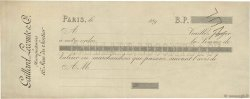 Francs FRANCE régionalisme et divers PARIS 1890 DOC.Chèque TTB