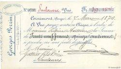 39,15 Francs FRANCE régionalisme et divers Cornimont 1870 DOC.Chèque SUP