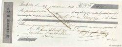 411 Francs FRANCE régionalisme et divers POITIERS 1844 DOC.Mandat TTB