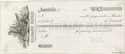 Francs FRANCE régionalisme et divers Lunéville 1870 DOC.Mandat SUP