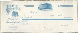 Francs FRANCE régionalisme et divers PARIS 1878 DOC.Chèque SUP