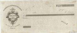 Francs FRANCE régionalisme et divers (PARIS) 1870 DOC.Chèque TTB