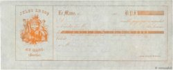 Francs FRANCE régionalisme et divers LE MANS 1860 DOC.Mandat SUP
