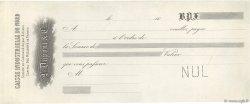 Francs FRANCE régionalisme et divers Valenciennes 1846 DOC.Chèque TTB