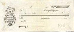 Francs FRANCE régionalisme et divers (SAINT QUENTIN) 1860 DOC.Chèque SUP