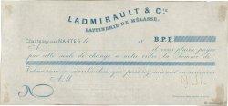 Francs FRANCE régionalisme et divers Chantenay 1872 DOC.Lettre SUP