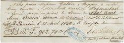 902,70 Francs FRANCE régionalisme et divers SAINT QUENTIN 1854 DOC.Chèque TTB
