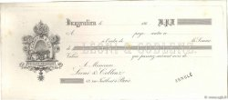 Francs FRANCE régionalisme et divers Vaugenlieu 1863 DOC.Chèque TTB