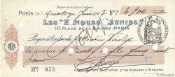 4500 Francs FRANCE régionalisme et divers PARIS 1927 DOC.Chèque SUP