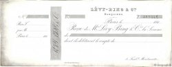 Francs FRANCE régionalisme et divers PARIS 1860 DOC.Reçu TTB