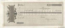 Francs FRANCE régionalisme et divers PARIS 1837 DOC.Chèque SUP