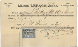 1500 Francs FRANCE régionalisme et divers ÉPINAL 1872 DOC.Reçu TB