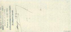 40,50 Francs FRANCE régionalisme et divers PARIS 1922 DOC.Chèque SUP