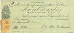 2000 Francs FRANCE régionalisme et divers Paris 1935 DOC.Chèque SUP