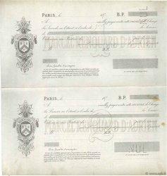 Francs FRANCE régionalisme et divers PARIS 1874 DOC.Lettre TTB