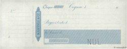 Francs FRANCE régionalisme et divers Cognac 1900 DOC.Chèque SUP