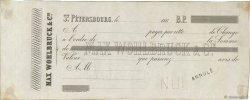 (B.P.) FRANCE régionalisme et divers Saint-Pétersbourg (Russie) 1865 DOC.Lettre SUP