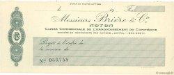 Francs FRANCE régionalisme et divers Noyon 1910 DOC.Chèque SPL