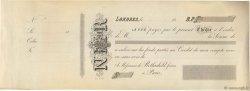 Francs FRANCE régionalisme et divers LONDRES (GRANDE-BRETAGNE) 1865 DOC.Chèque SUP