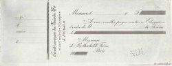 Francs FRANCE régionalisme et divers Monaco 1865 DOC.Chèque TTB
