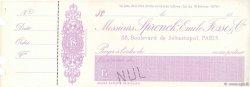 Francs FRANCE régionalisme et divers PARIS 1874 DOC.Chèque SUP