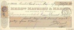 73274,90 Francs FRANCE régionalisme et divers Marseille 1927 DOC.Chèque SUP