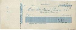 Francs FRANCE régionalisme et divers PARIS 1900 DOC.Chèque TTB