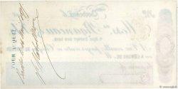 30000 Francs FRANCE régionalisme et divers BORDEAUX 1877 DOC.Chèque SUP