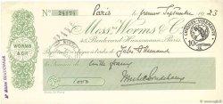 1000 Francs FRANCE régionalisme et divers PARIS 1923 DOC.Chèque SUP