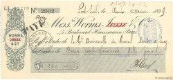 260000 Francs FRANCE régionalisme et divers Port Saïd 1899 DOC.Chèque SUP