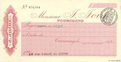 Francs FRANCE régionalisme et divers TOURCOING 1933 DOC.Chèque SPL