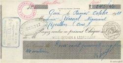 245,40 Francs FRANCE régionalisme et divers RÉVEILLON 1921 DOC.Chèque SUP