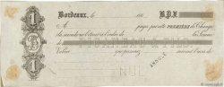 Francs FRANCE régionalisme et divers BORDEAUX 1865 DOC.Lettre TTB