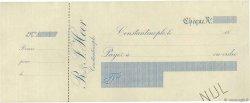 Francs FRANCE régionalisme et divers CONSTANTINOPLE (TURQUIE) 1865 DOC.Chèque SUP