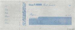 (Francs) FRANCE régionalisme et divers RIO DE JANEIRO (BRÉSIL) 1890 DOC.Chèque SUP