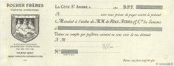 Francs FRANCE régionalisme et divers La Côte St André 1900 DOC.Mandat SUP