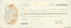 Francs FRANCE régionalisme et divers NÎMES 1889 DOC.Mandat SUP