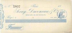 Francs FRANCE régionalisme et divers Paris 1871 DOC.Chèque SUP