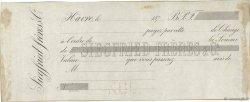 Francs FRANCE régionalisme et divers LE HAVRE 1870 DOC.Lettre TTB