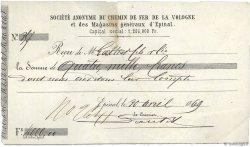 4000 Francs FRANCE régionalisme et divers ÉPINAL 1869 DOC.Reçu TB