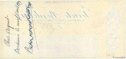 168000 Francs FRANCE régionalisme et divers BORDEAUX 1909 DOC.Chèque SUP