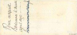 20000 Francs FRANCE régionalisme et divers Bordeaux 1910 DOC.Chèque SUP