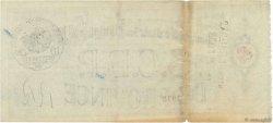 Francs FRANCE régionalisme et divers PARIS 1915 DOC.Chèque TTB
